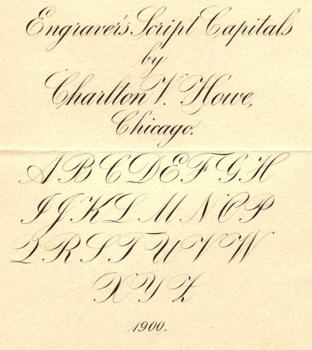 Engraver S Script