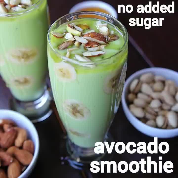 hebbar s kitchen on instagram avocado smoothie recipe avocado banana smoothie full recipe on hebbar s kitchen modak recipe id=32198