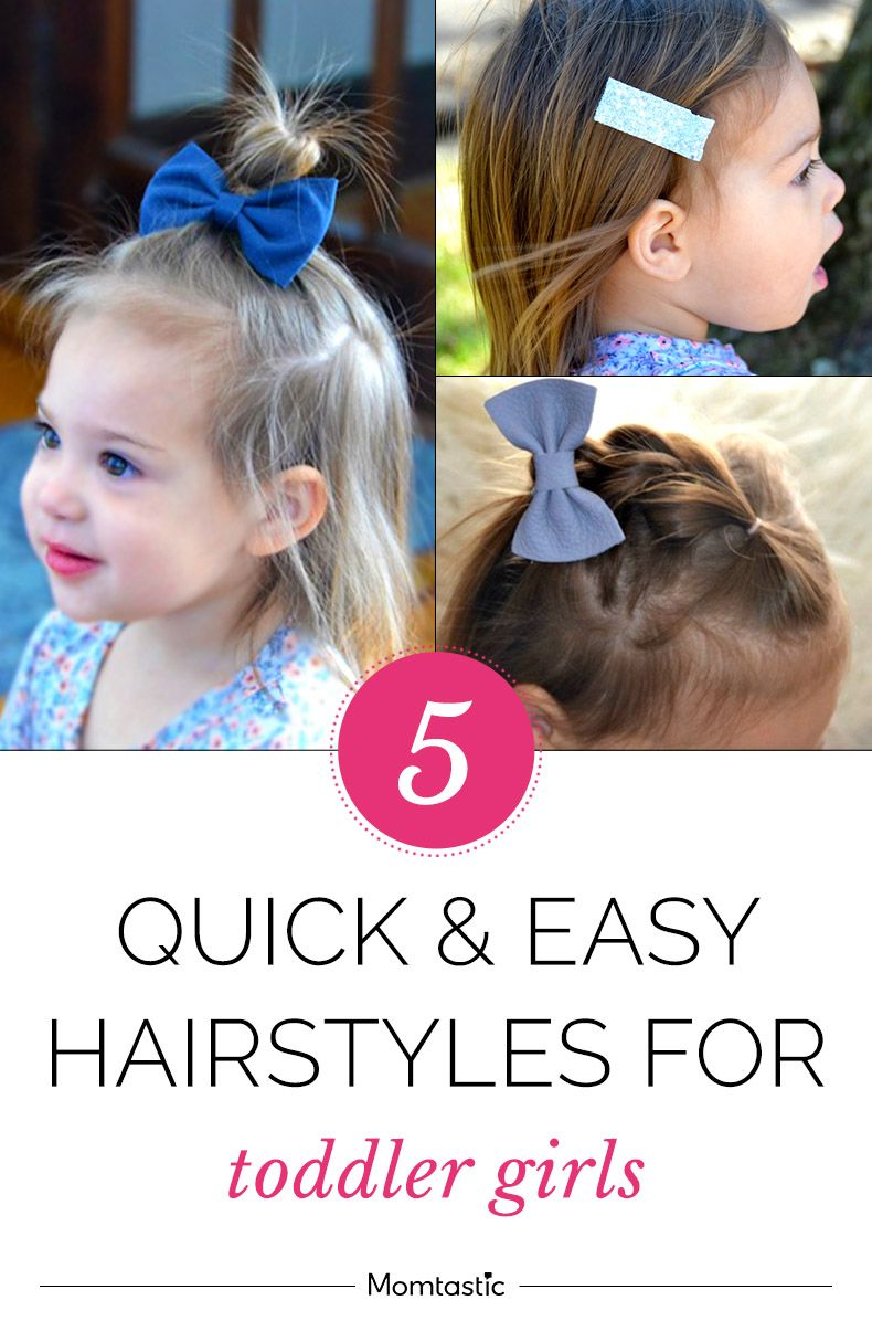 5 Quick Easy Hairstyles For Toddler Girls Easy Toddler Hairstyles Easy Hairstyles Quick Baby Hairstyles