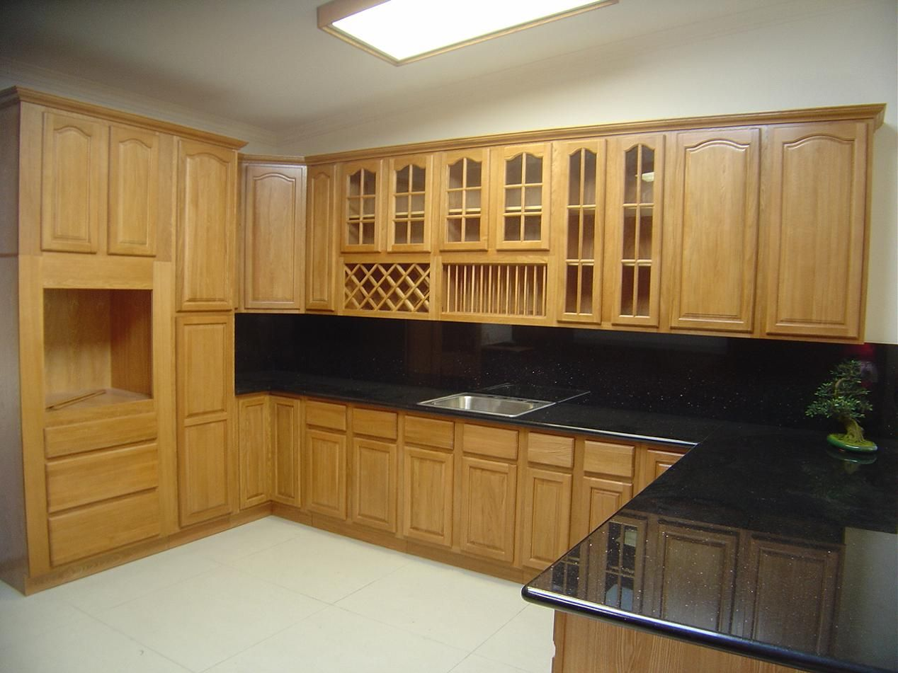 wood kitchen cabinets | kerala kitchen designs photo gallery