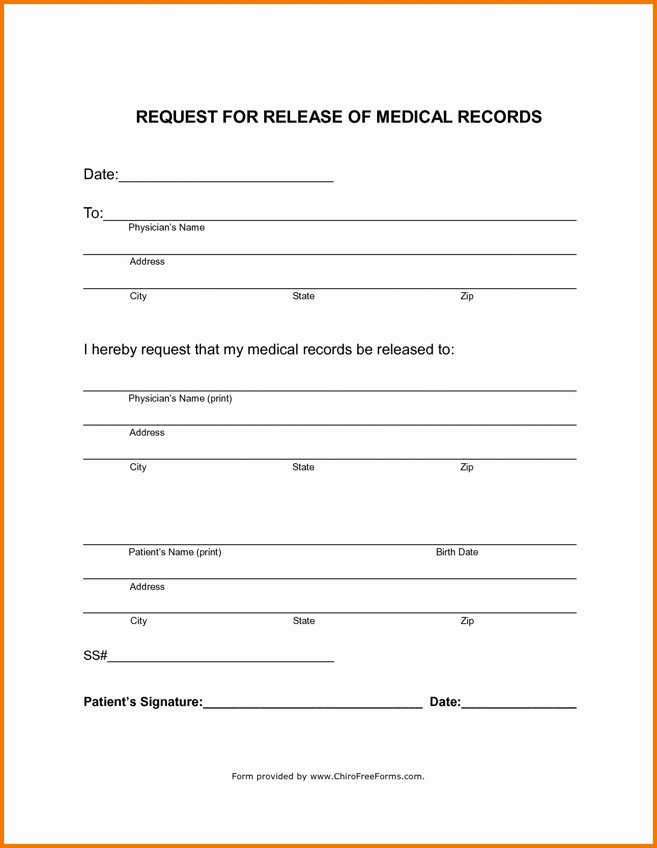 Medical Records Forms Template Lovely Policy And Forms Ideas Collection Medical Record Release Medical Records Medical Templates