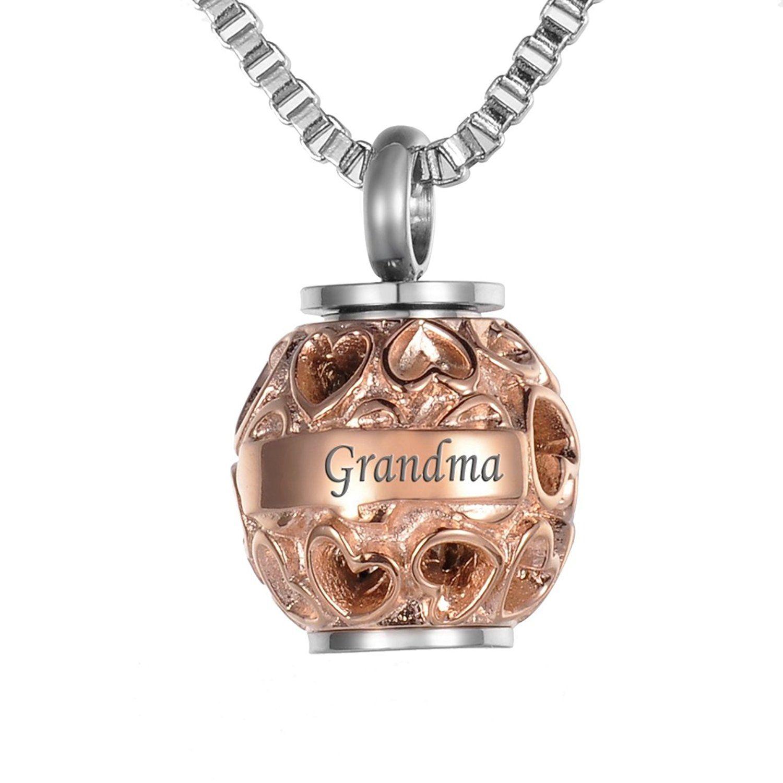 VALYRIA Hollow Diamond Heart Beads 'Grandma' 'Always in my
