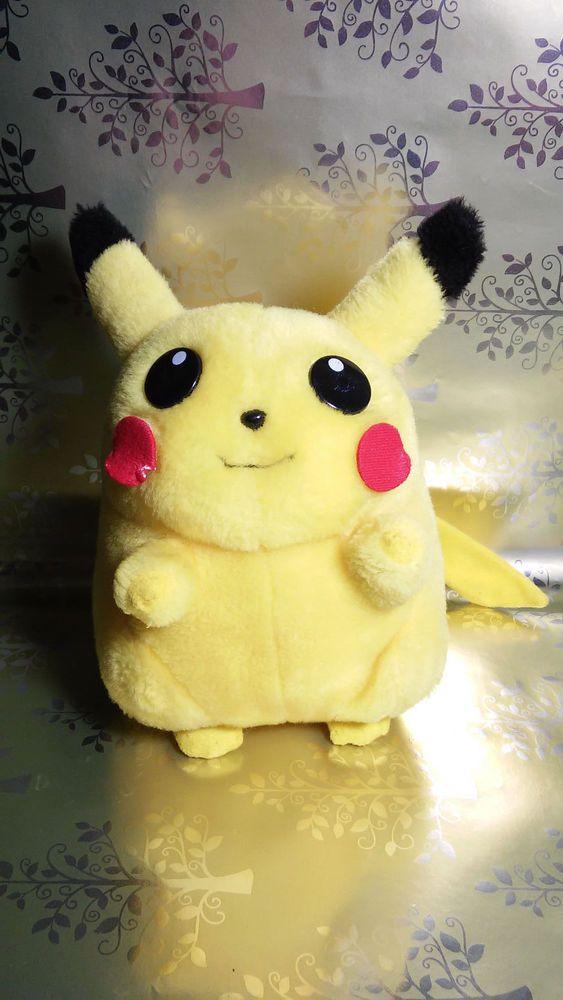 vintage pikachu pokemon nintendo chubby fat chibi plush stuffed