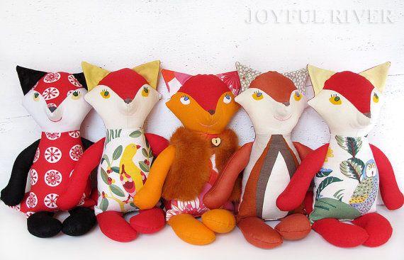 Beautiful Foxes Sewn Using Joyful Fox Sewing Pattern By