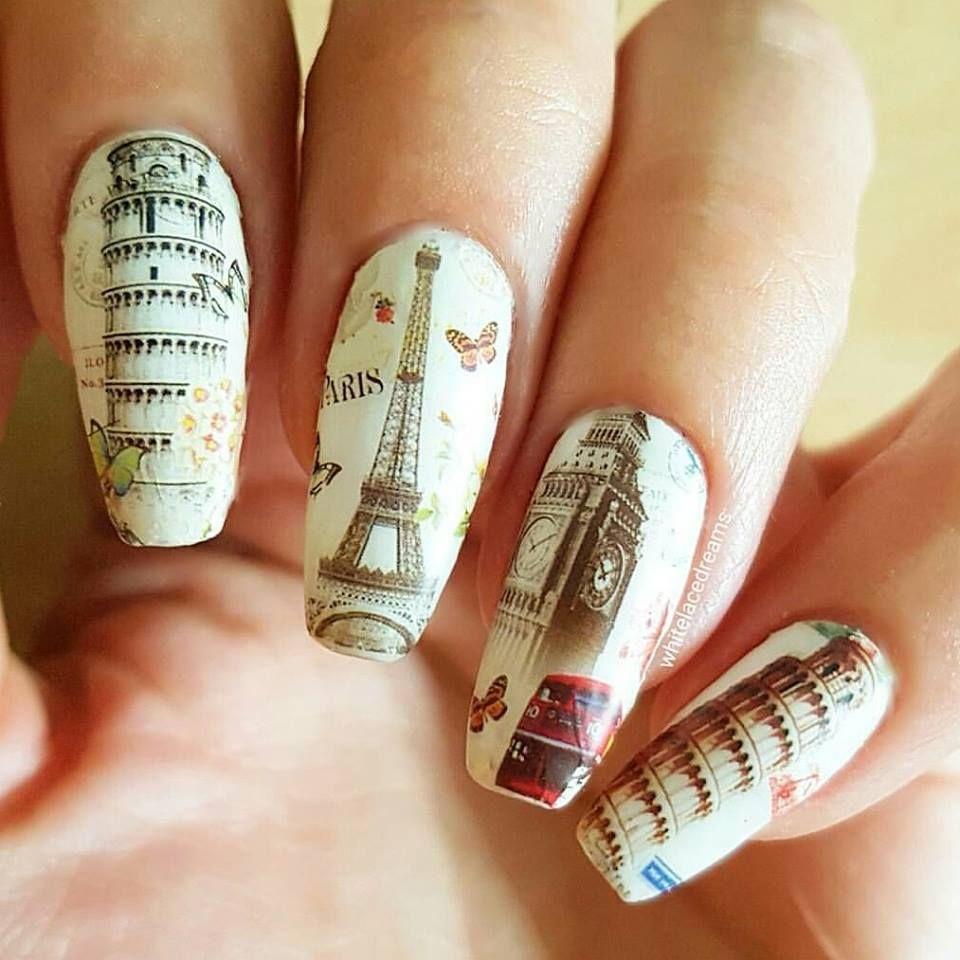 Charlies Nail Art - Shabby chic landmark water decal nail wraps ...