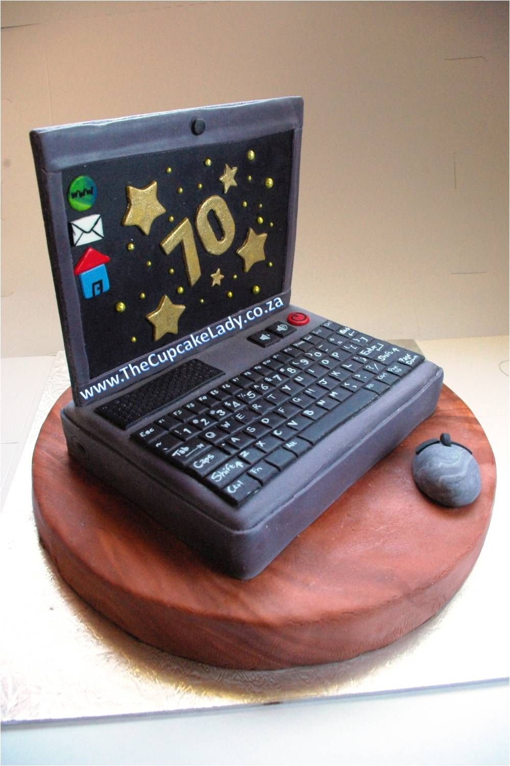 Novelty Cake Custom Made Decorations Laptop Chocolate Birthday