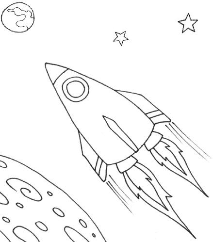 wayne schmidts free space ship coloring page - Spaceship Coloring Pages Print