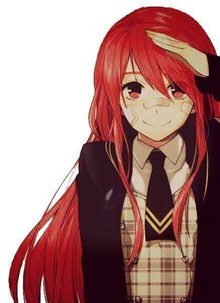 Дрочит член секс с девушкой с красными волосами