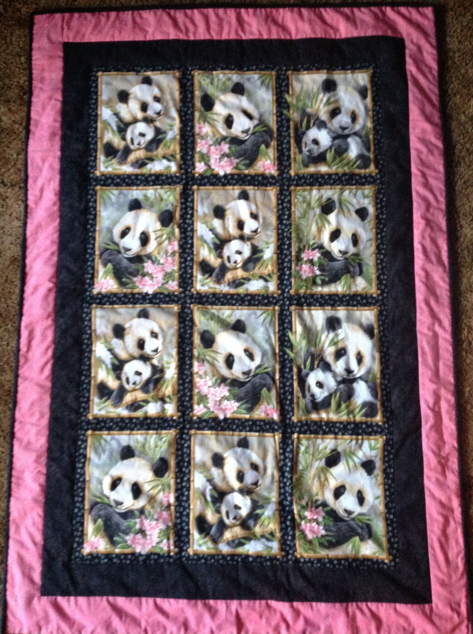 Panda Quilts On Pinterest Panda Babies Baby Quilts And