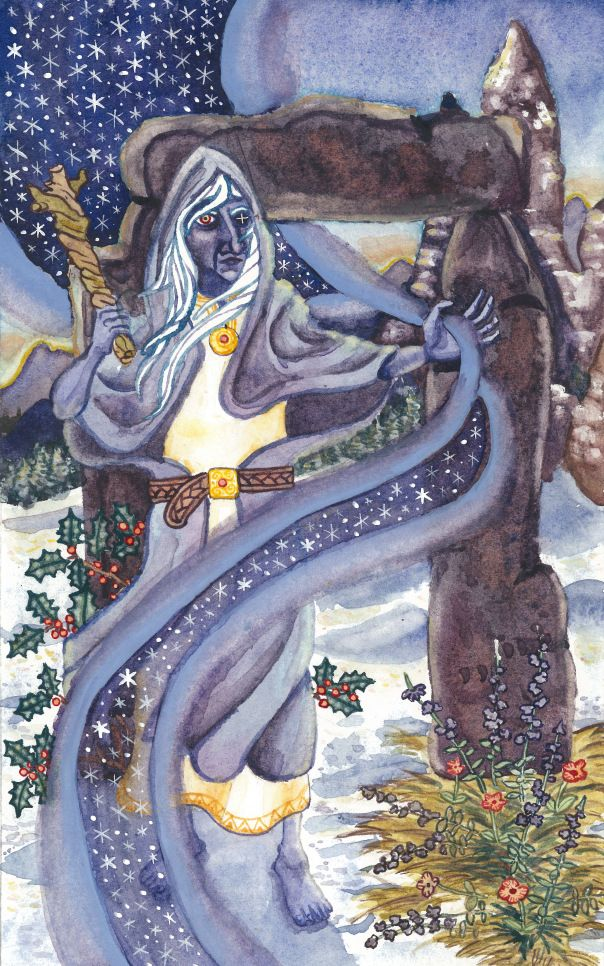 Cailleach prayer card by Basil Blake | Celtic gods, Celtic goddess, Pagan  art