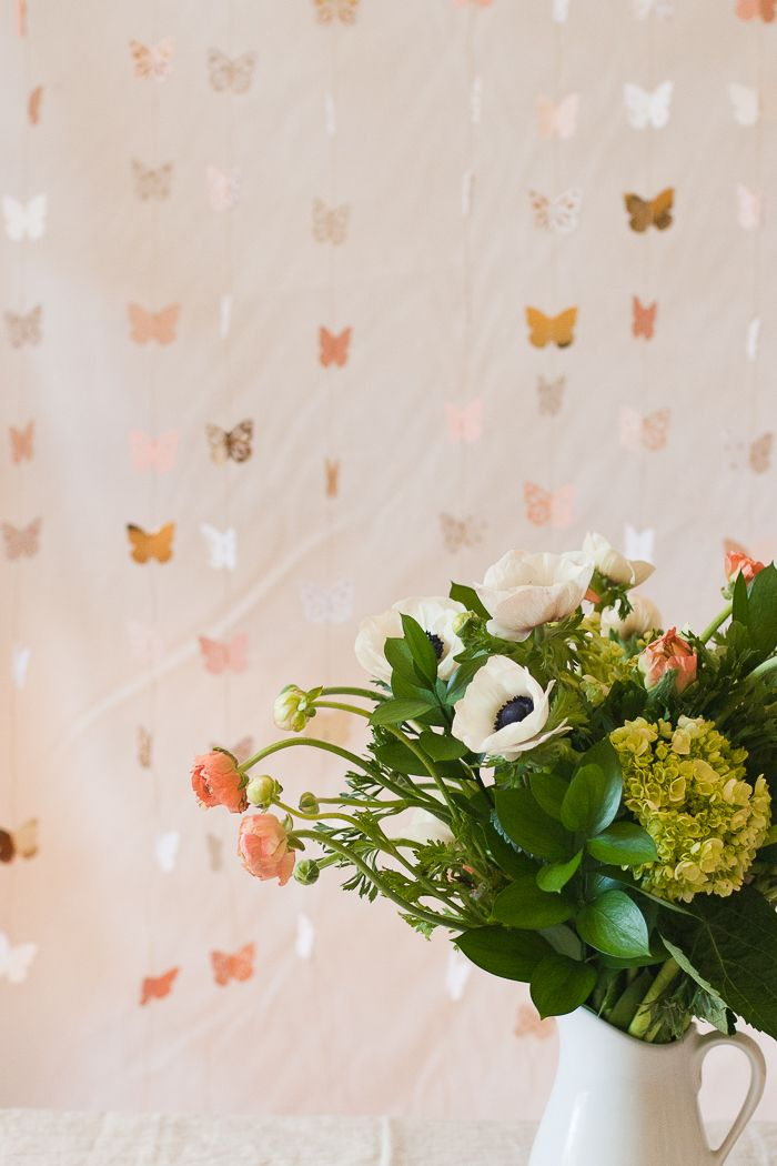 Make your own DIY Butterfly Photo Backdrop for a beautiful spring party.
