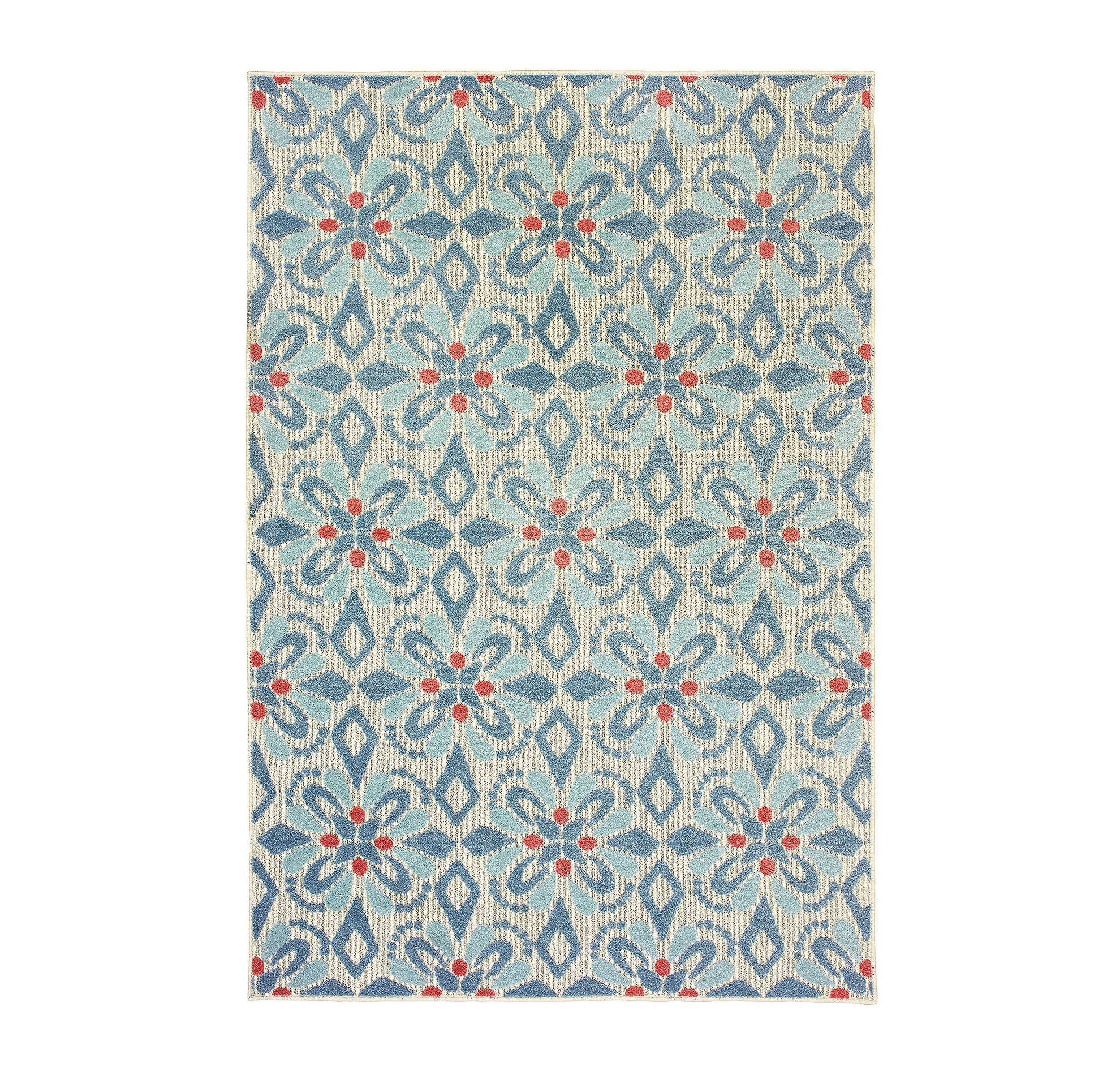 Blue Castleberry Outdoor Area Rug 5x7 In 2020 Indoor Outdoor