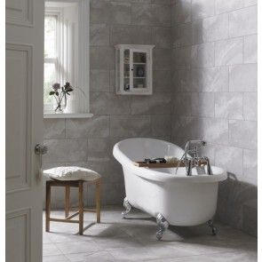 Roundhay Grey, affordable tiles, also available in an ivory/beige colour.