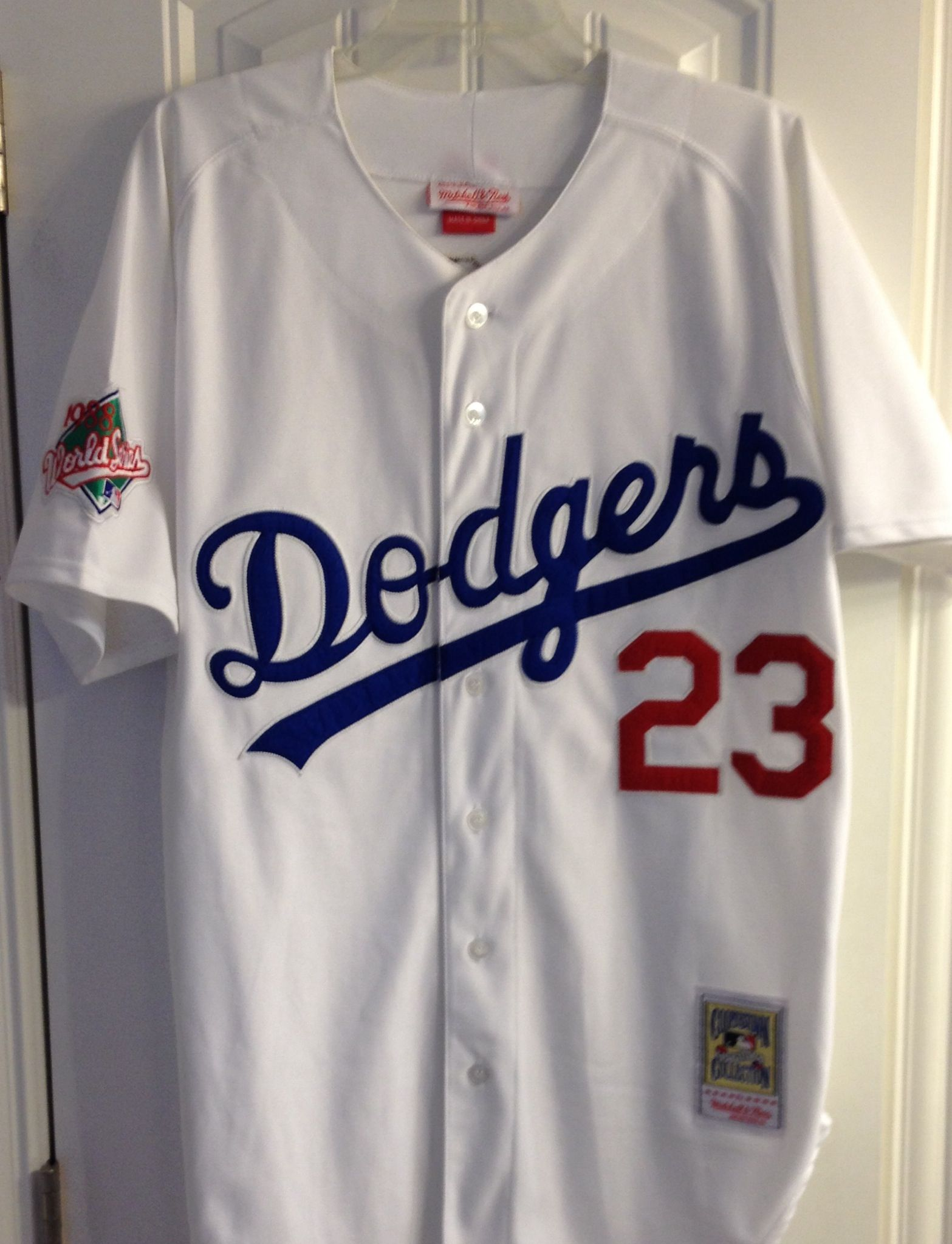 121e3f47 Vintage Mitchell & Ness Kirk Gibson Dodgers World Series Jersey ...