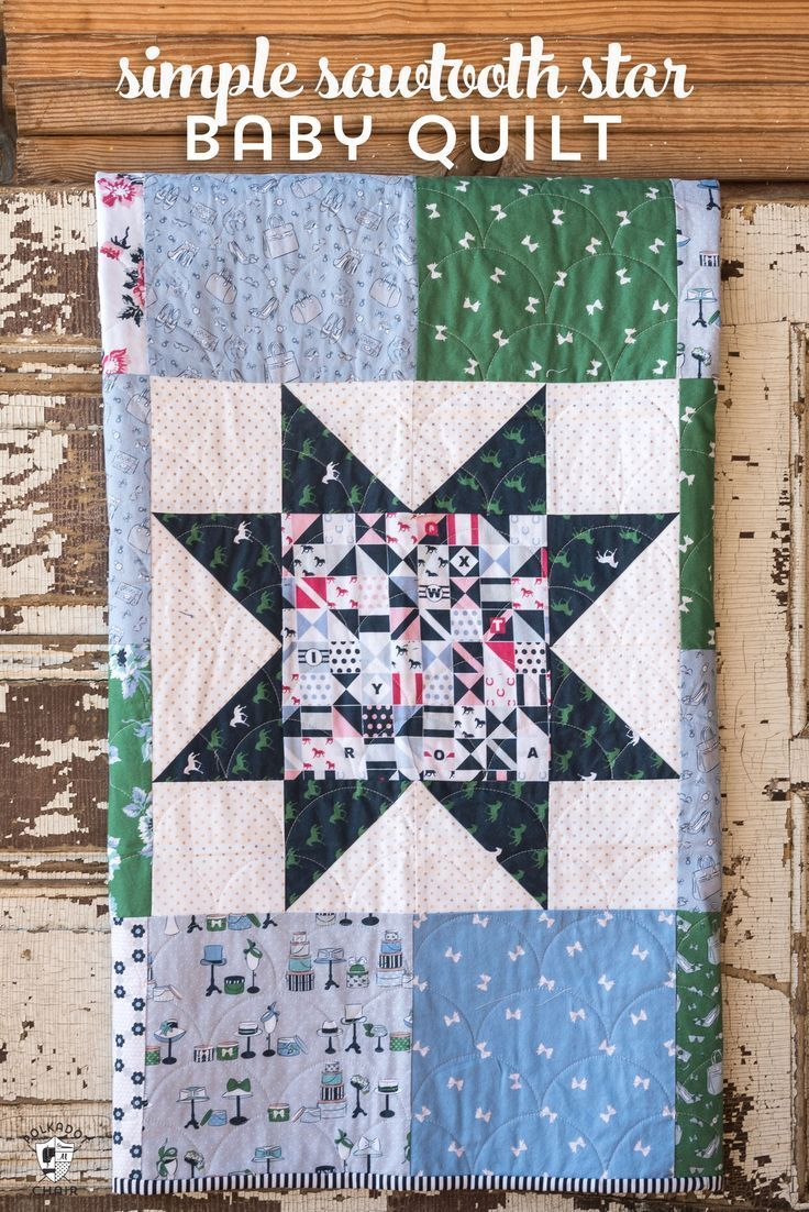 Simple Sawtooth Star Baby Quilt Inspiration Sewing Projects