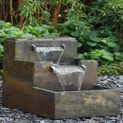 Slate fountains bamboo fountains granite fountains for Japanese bamboo water feature