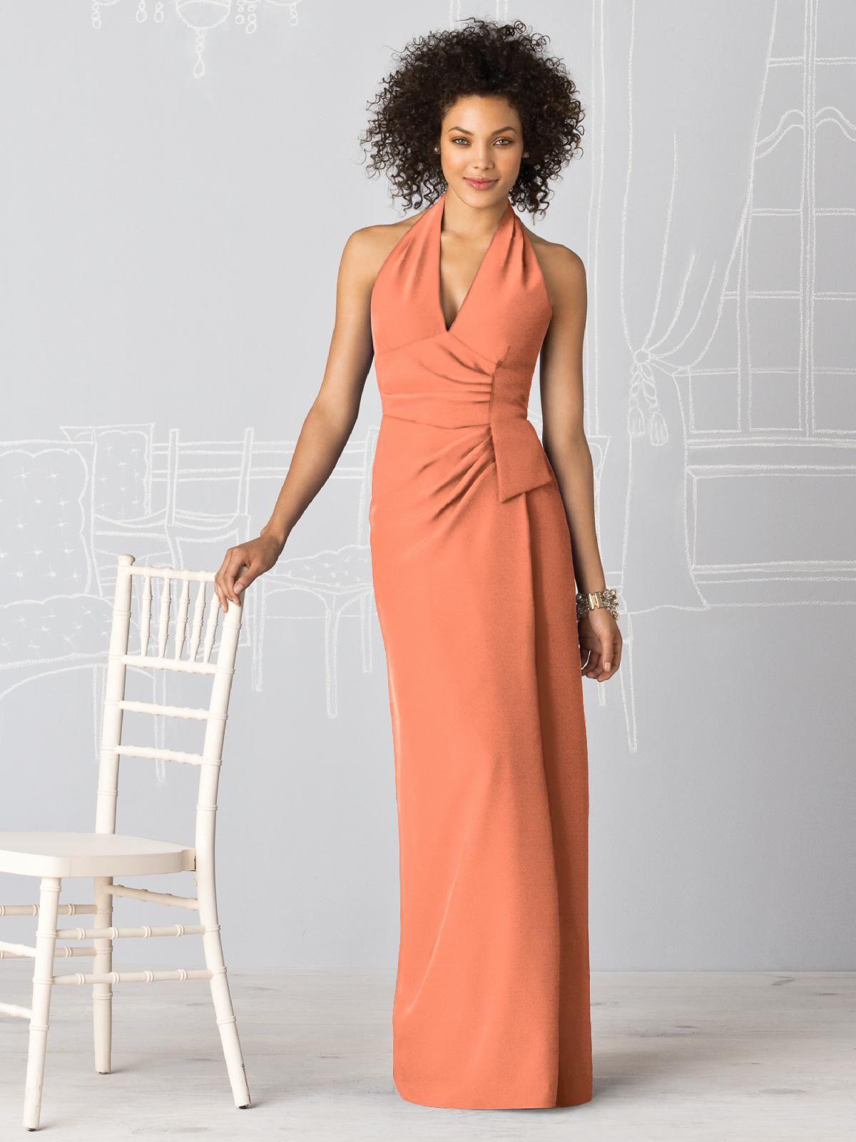 After Six Bridesmaids Style 6595 #orange #bridesmaid #dress | Orange ...