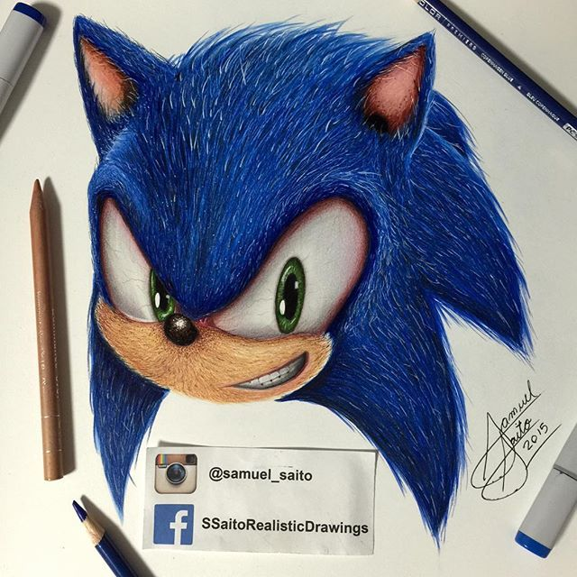 Realistic Sonic #sega #sonic #arts_help #artfido #art # ...