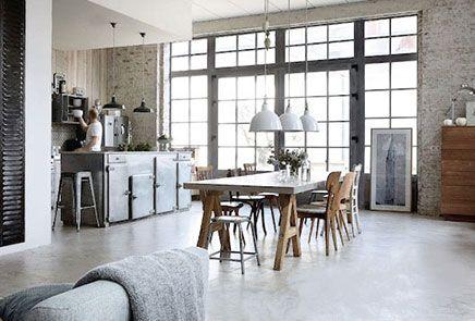 Industriele Interieur Inrichting : Industriele inrichting huis gallery of huiskamer with industriele