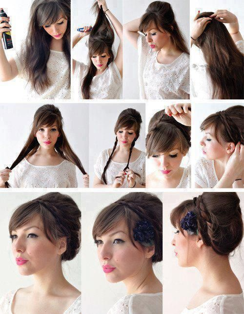 peinado-recogido-bonito-sencillo | peinado | pinterest