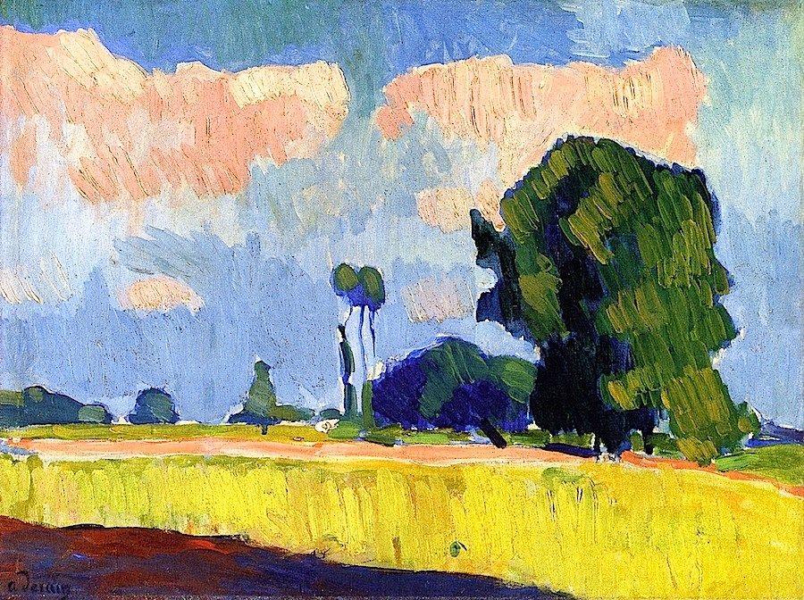 Andre Derain Near Châtou - circa 1900 when Derain was 20 years old.