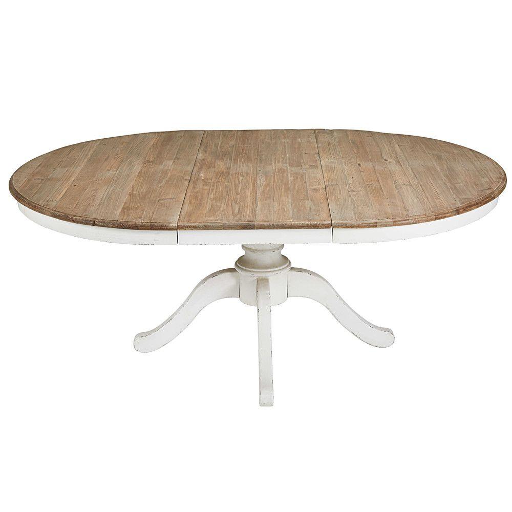 Table Extensible Maison Du Monde.Table A Manger Ronde Extensible 6 A 8 Personnes L140 190
