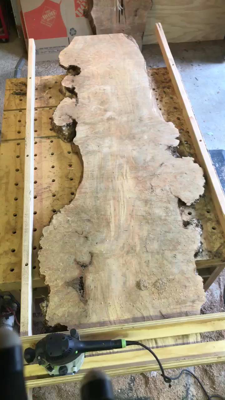Sanding Walnut Table