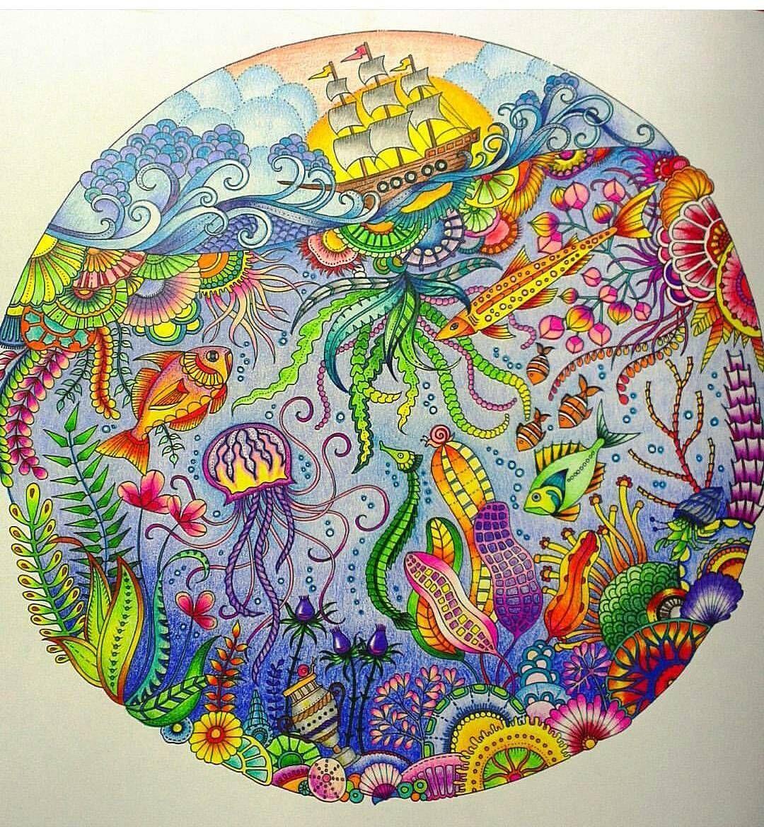 Johanna Basford galyanikitina Lost Ocean Pinterest