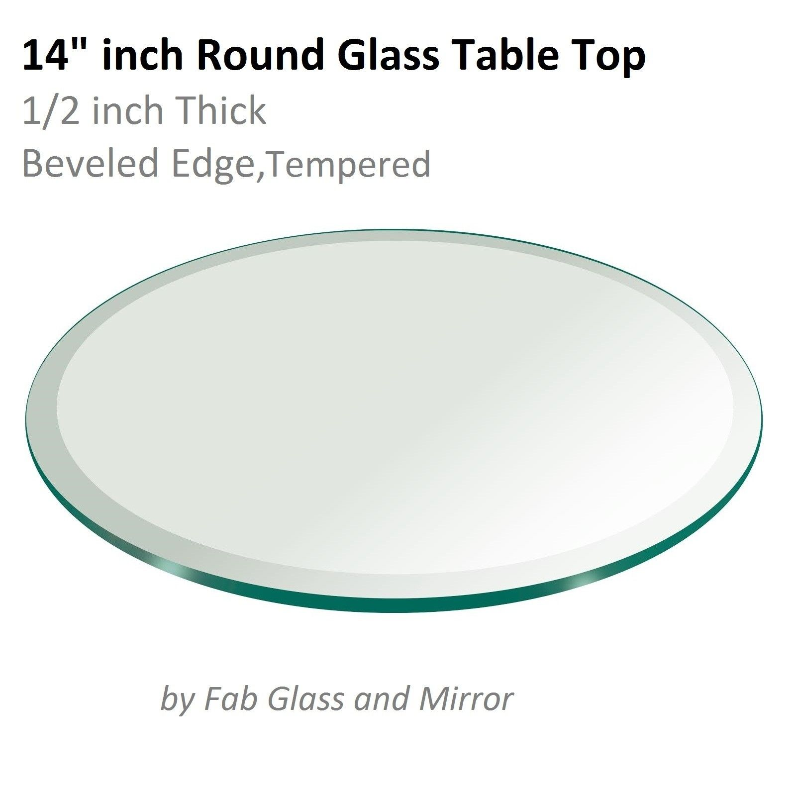 14 Inch Round Gl Table Top