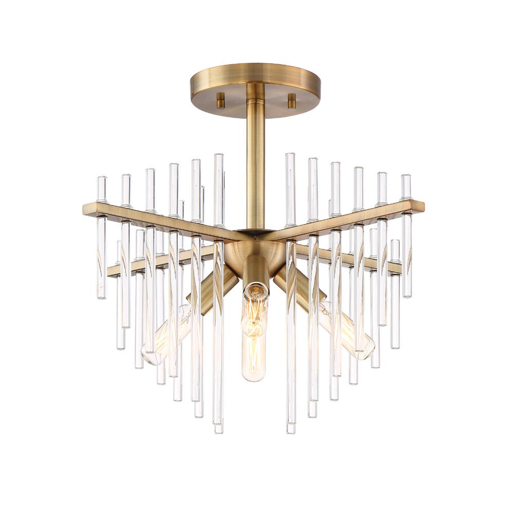 Designers Fountain Reeve 4 Light Brushed Antique Bronze Semi Flush Mount Light 90411 Bab Semi Flush Ceiling Lights Flush Lighting Flush Mount Lighting
