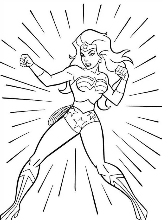 Wonder Woman Colouring Sheet Mulher Maravilha Para Colorir