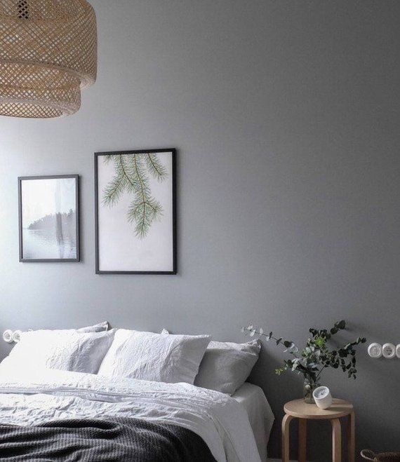 Watercolor wall art featuring  pine tree brunch stylish decor in nordic style poster on th also rh pinterest