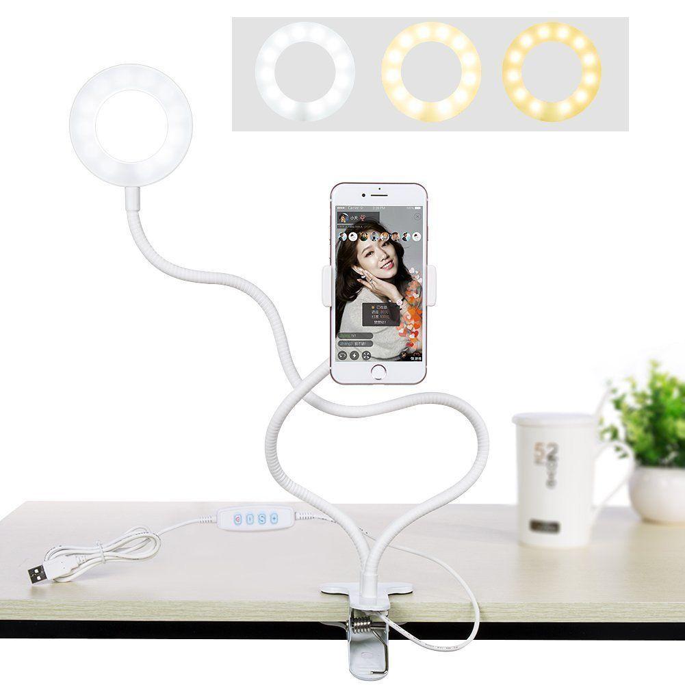 24 Avec Selfie Pour Support Téléphone Ring Light Portable Led 34ALqRj5