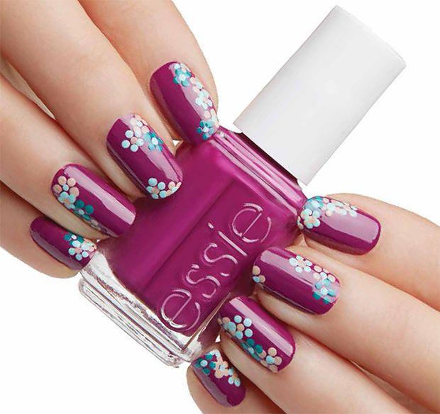 Nail art essie flowerista belleza tips pinterest manicure nail art essie flowerista prinsesfo Images