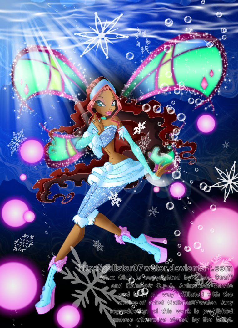 Aisha Layla In Her Winter Lovix Outfit Hail Ray Is The Name Of Her Special Lovix Power I Might Have Went Overboard Wi Winx Club Drawing For Kids Photo Club
