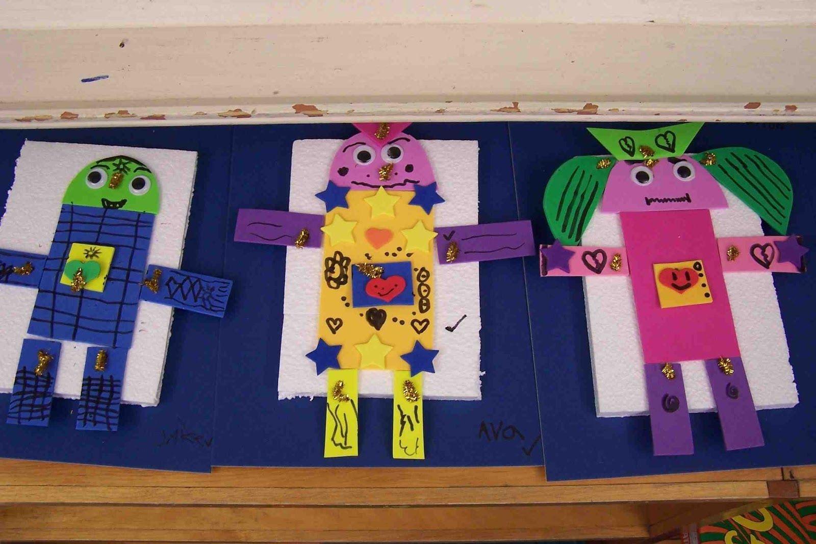 Create Art With Me Kindergarten 2d Shape Robots