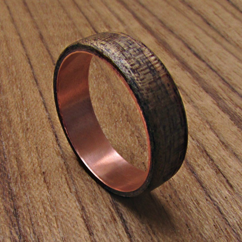 Black Walnut Wooden Wedding Band for men, Men's Wood and