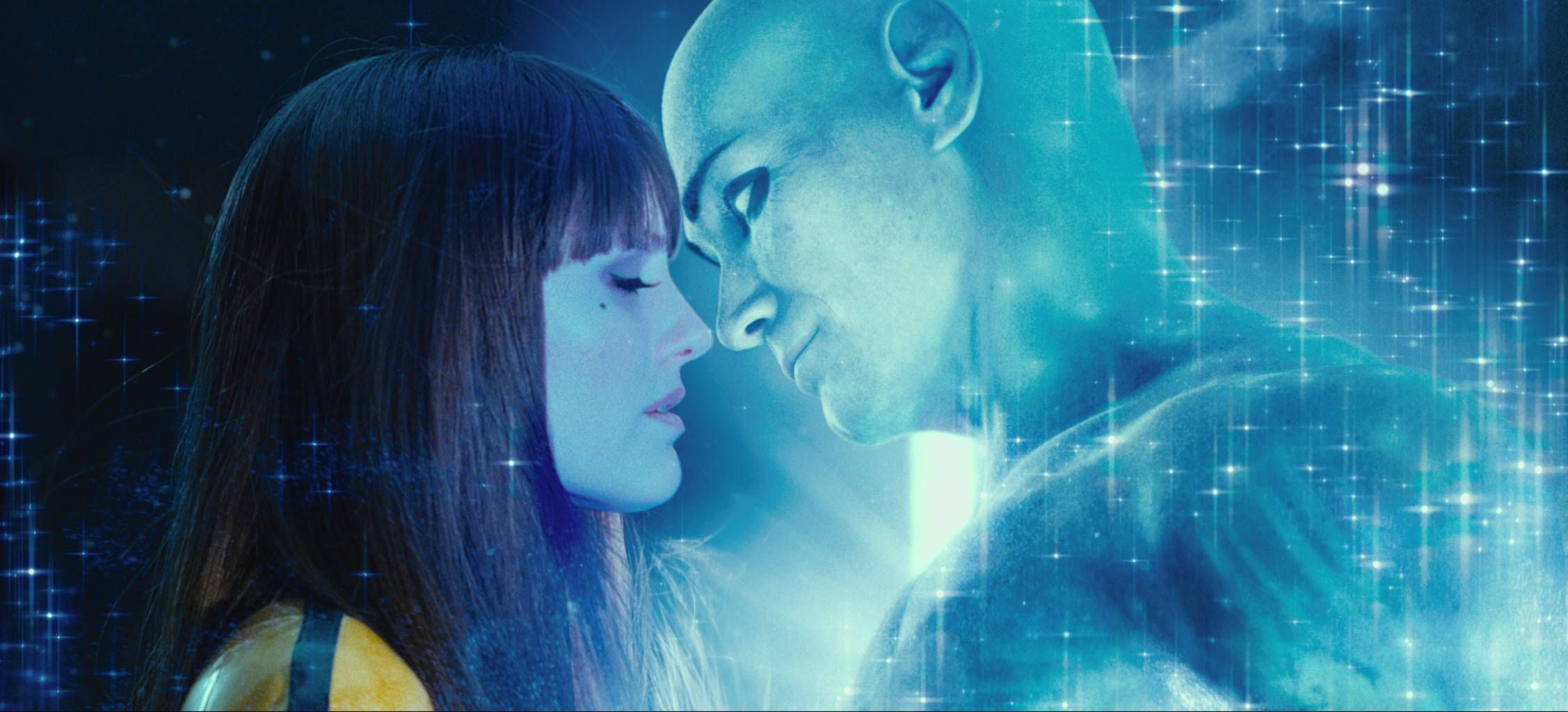 Silk Spectre and Dr Manhattan - Watchmen