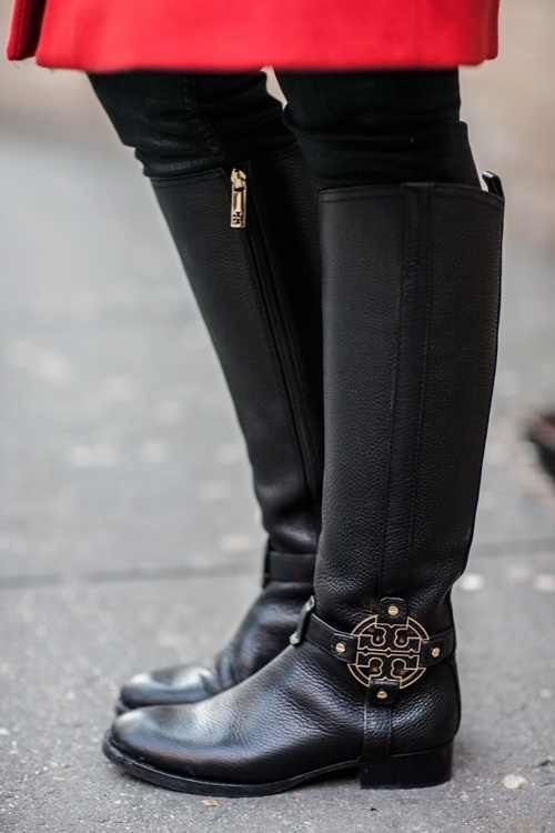 ab186fa9d7a7 Black Tory Burch riding boots - i really don t need my kid to see these.  she d knock me down for them.