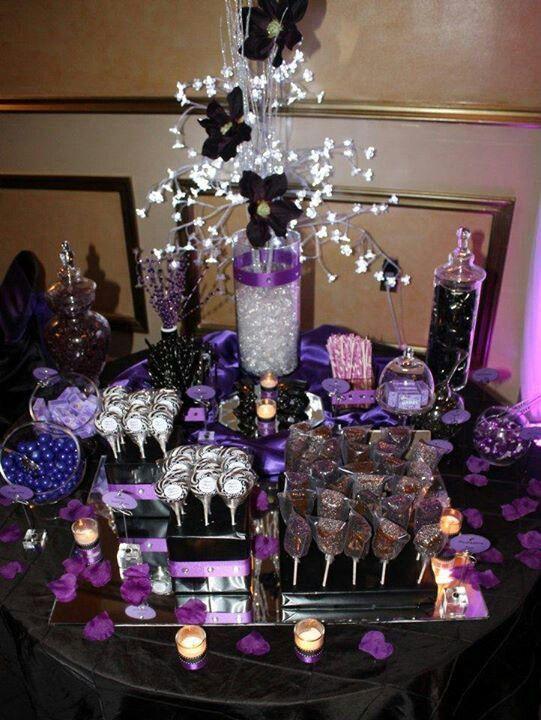 Purple Candy Bar Ideas Pretty Purple Candy Station Purple Candy Buffet Wedding Candy Buffet Wedding Wedding Snacks