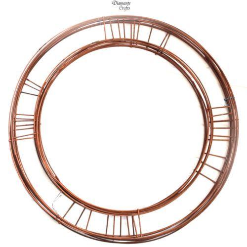 "Copper Flat Wreath Frame 8/"" 10/"" 12/"" 14/"" 16/"" Xmas Craft Wire"