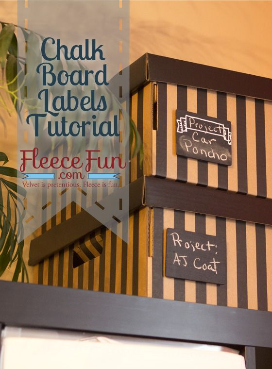 How to make chalkboard labels - quick and easy DIY courtesy of FleeceFun.com