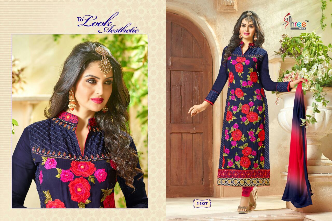 Shree fabs first choice 7 buy direct from manufacturer  BRAND SHREE FABS  NO. OF PIECES 9  AVERAGE PRICE 1199 RS  CATLOG PRICE 10791 + Shipping  FABRIC GEORGETTE