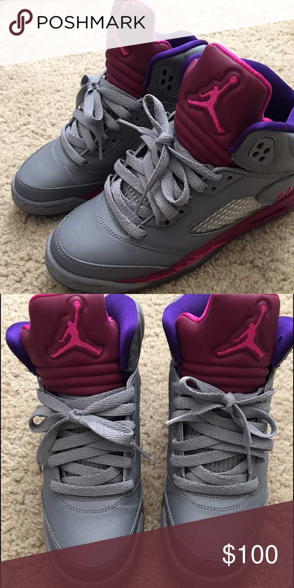 67513ff3daba Jordan Retro 5 GS cement grey pink foil raspberry