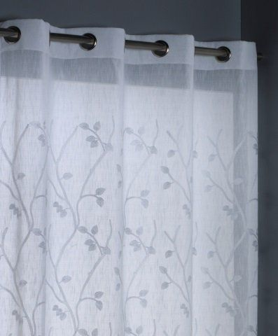 Clara Vidal   Cortina visillo Acacia, 150x260 cm, blanco: Amazon