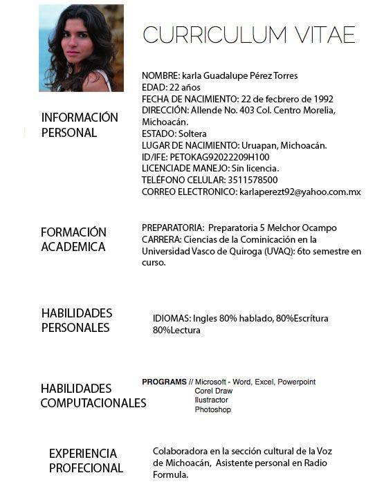 cv-michoacano.jpg (542×710) | Temas: Trabajo y Profesiones ...