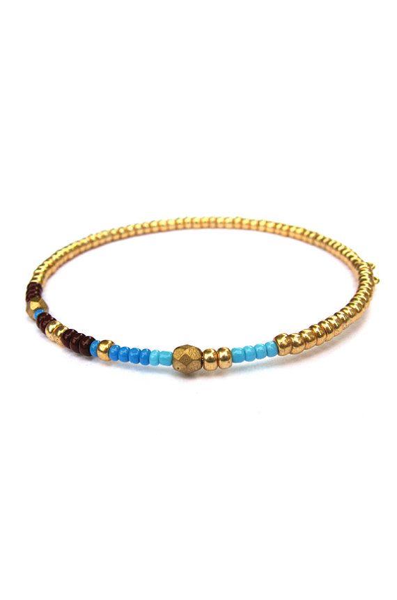 Julia Arm Candy Beaded Bracelet Memory Wire Bracelet Asymmetrical ...