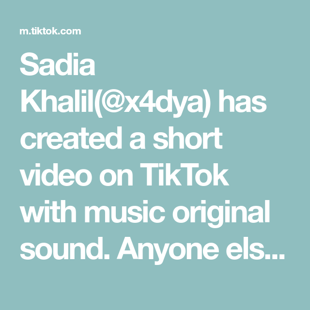 Sadia Khalil X4dya Has Created A Short Video On Tiktok With Music Original Sound Anyone Else Baby For Shimmer Body Lotion Glowing Skin Mask Diy Skin Care