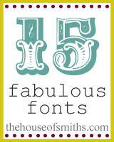 Because I am a Font Junkie.