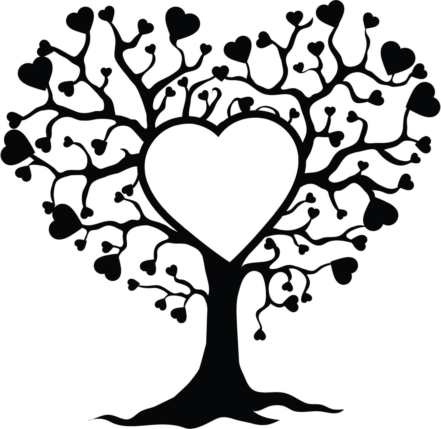 Love Tree Decal by TheOneCherryBlossom on Etsy, 4.50
